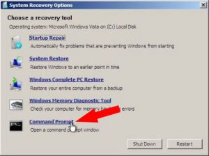 Select recovery tool